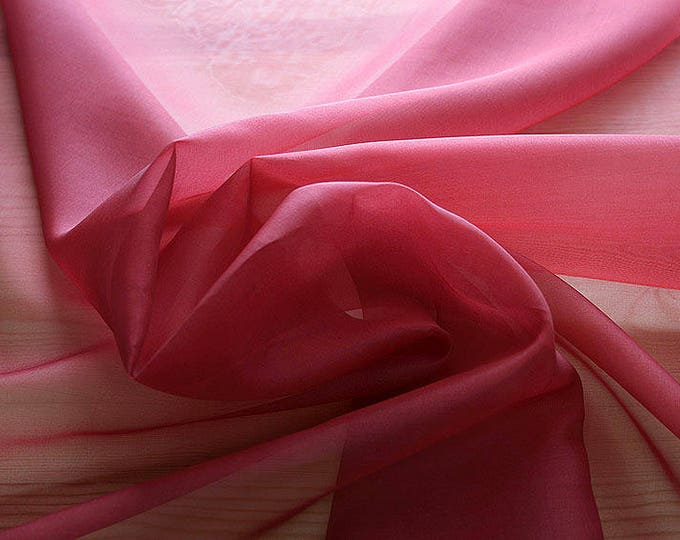 131114-organdy Natural Silk 100%, wide 135/140 cm, made in Italy, dry cleaning, weight 34 gr, price 1 meter: 28.37 Euros
