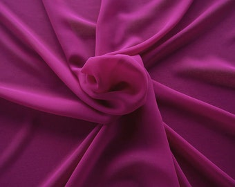 1716-124-Georgette, natural silk 100%, wide 135/140 cm, made in Italy, dry washing, weight 60 gr, Price 0.25 meters: 10.59 Euros