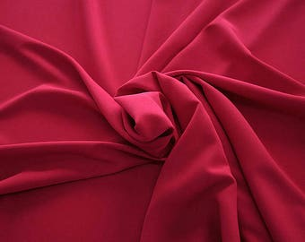 905102-Crepe 100% Polyester, 150 cm wide, made in Italy, dry washing, weight 306 gr, Price 0.25 meters: 8.14 Euros