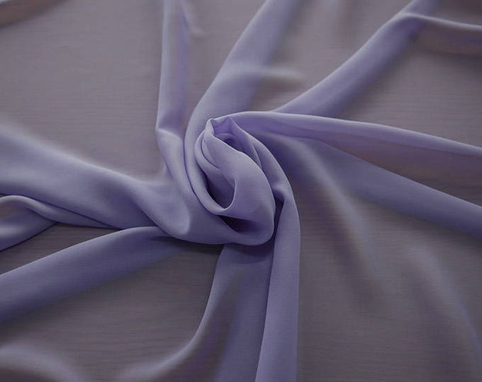 1716-206-Georgette, natural silk 100%, wide 135/140 cm, made in Italy, dry washing, weight 60 gr, Price 0.25 meters: 10.59 Euros