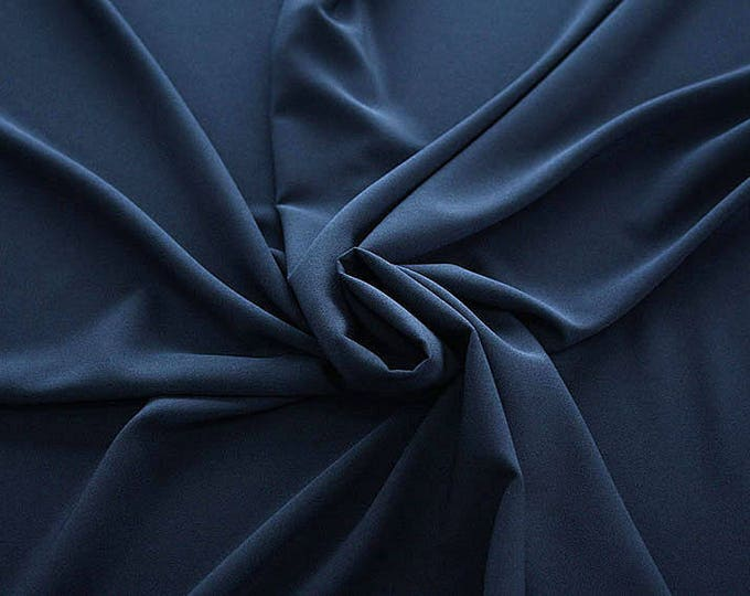 905046-Crepe 100% Polyester, 150 cm wide, made in Italy, dry washing, weight 306 gr, Price 0.25 meters: 8.14 Euros