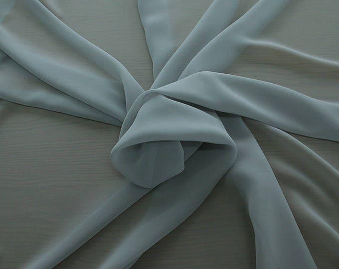 1716-181-Georgette, natural silk 100%, wide 135/140 cm, dry wash, weight 60 gr, Price 0.25 meters: 10.59 Euros