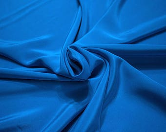 305161-Crepe marocaine, natural silk 100%, wide 130/140 cm, made in Italy, dry washing, weight 215 gr, Price 0.25 meters: 26.09 Euros
