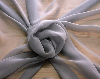 316186-Georgette, natural silk 100%, wide 135/140 cm, made in Italy, dry washing, weight 50 gr, price 0.25 meters: 9.08 Euros
