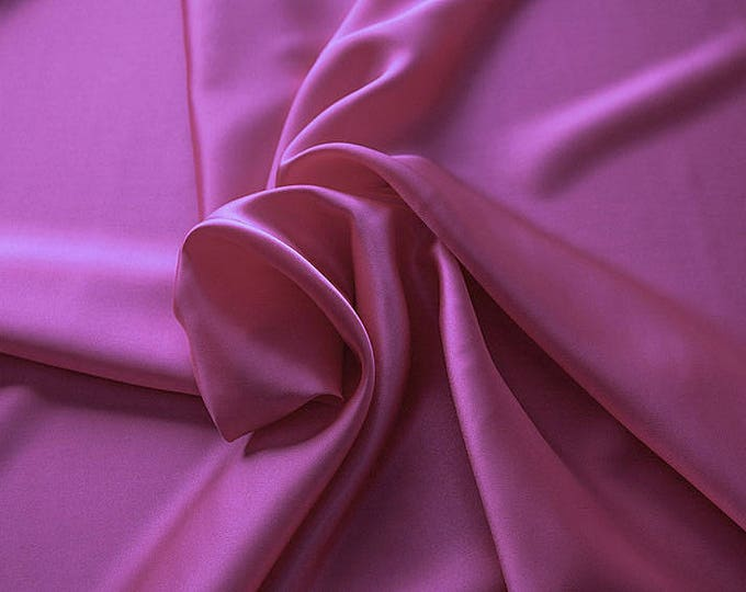 1712-130-Natural silk Crepe Satin 100%, 135/140 cm Wide, Made in Italy, dry-Washed, Weight 100 gr