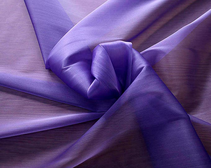 232216-organdy Cangiante Natural Silk 100%, 135 cm wide, made in Italy, dry cleaning, weight 55 gr, price 1 meter: 55.24 Euros