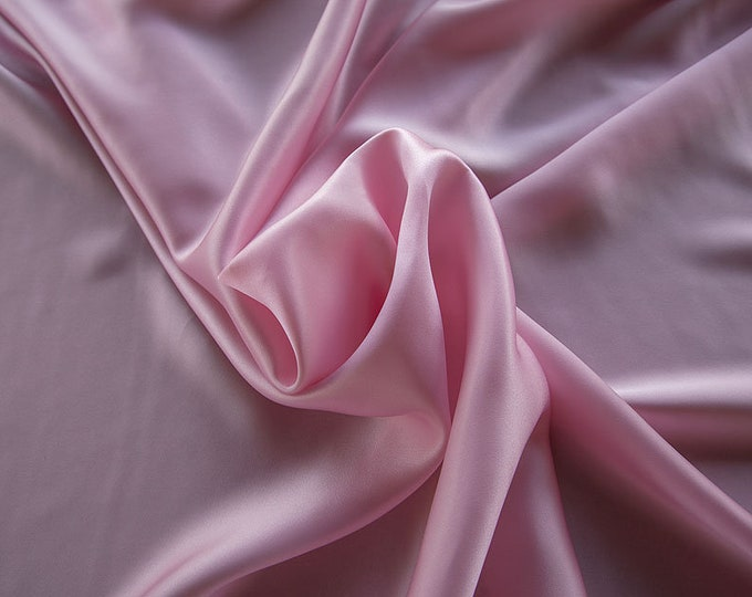 1712-128-Crepe Satin, natural silk 100%, wide 135/140 cm, made in Italy, dry washing, weight 100 gr, price 0.25 meters: 14.72 Euros