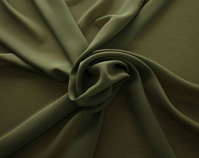 1716-099-Georgette, natural silk 100%, wide 135/140 cm, made in Italy, dry washing, weight 60 gr, Price 0.25 meters: 10.59 Euros
