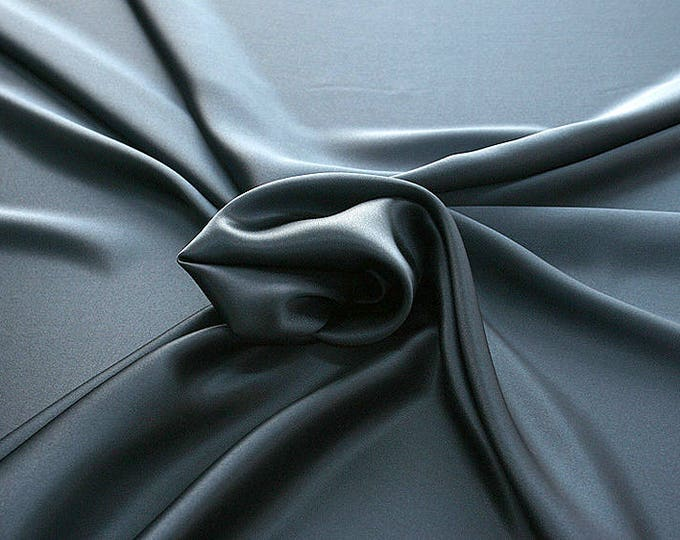 812159-Crepe Satin, natural silk 100%, wide 135/140 cm, made in Italy, dry washing, weight 98 gr, price 0.25 meters: 12.68 Euros
