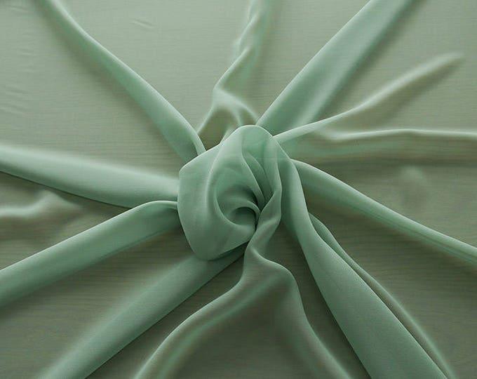 1716-083-Georgette, natural silk 100%, wide 135/140 cm, dry wash, weight 60 gr, Price 0.25 meters: 10.59 Euros