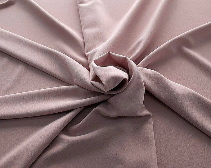 905040-Crepe 100% Polyester, 150 cm wide, made in Italy, dry washing, weight 306 gr, Price 0.25 meters: 8.14 Euros