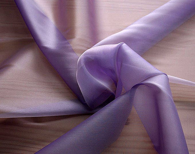 232206-organdy Cangiante Natural Silk 100%, 135 cm wide, made in Italy, dry cleaning, weight 55 gr, price 1 meter: 55.24 Euros