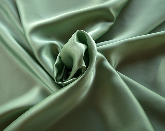 1712-083-Crepe Satin, natural silk 100%, wide 135/140 cm, made in Italy, dry washing, weight 100 gr, price 0.25 meters: 14.72 Euros