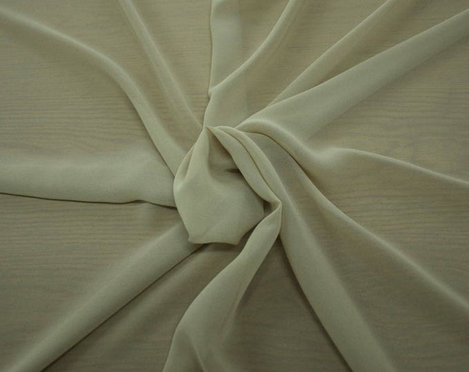 1716-007-Georgette, natural silk 100%, wide 135/140 cm, made in Italy, dry washing, weight 60 gr, Price 0.25 meters: 10.59 Euros