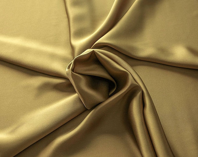 1712-093-Crepe Satin, natural silk 100%, wide 135/140 cm, made in Italy, dry washing, weight 100 gr, price 0.25 meters: 14.72 Euros