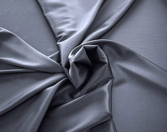 1713-188-crepe Satin Silk 97%, 6 Lycra, 135 cm wide, made in Italy, dry cleaning, weight 100 gr, price 1 meter: 58.87 Euros
