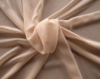 1716-045-Georgette, natural silk 100%, wide 135/140 cm, dry wash, weight 60 gr, Price 0.25 meters: 10.59 Euros
