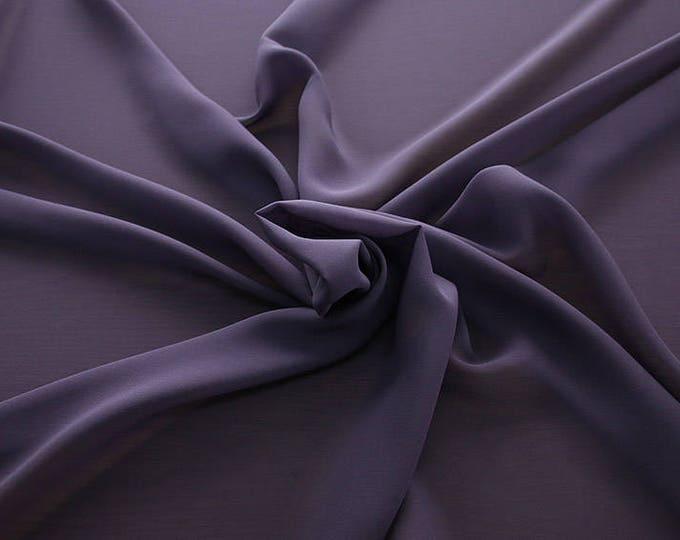 1716-215-Georgette, natural silk 100%, wide 135/140 cm, made in Italy, dry washing, weight 60 gr, Price 0.25 meters: 10.59 Euros