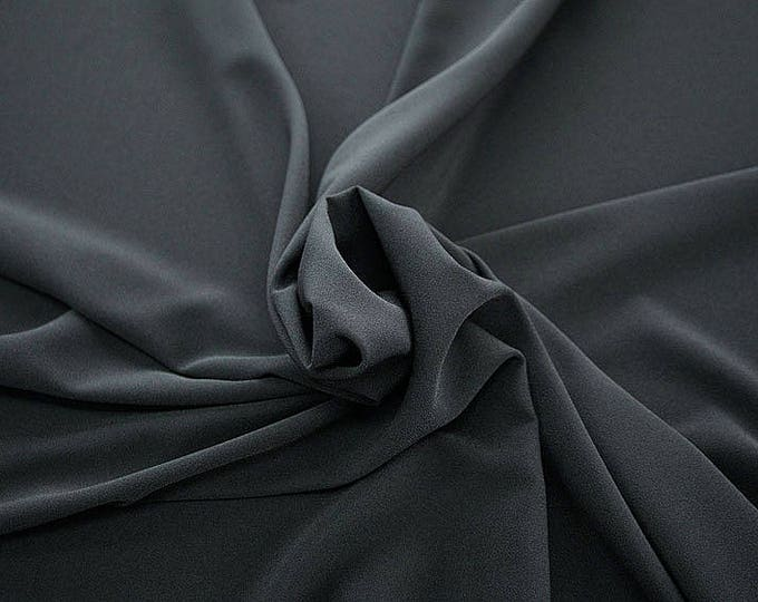 905189-Crepe 100% Polyester, 150 cm wide, made in Italy, dry washing, weight 306 gr, Price 0.25 meters: 8.14 Euros