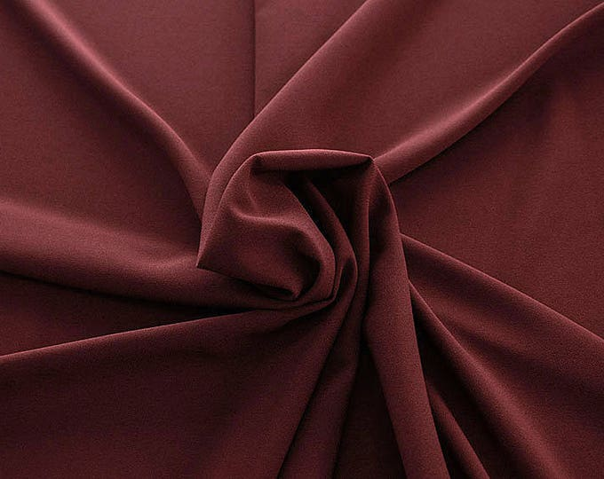 905114-Crepe 100% Polyester, 150 cm wide, made in Italy, dry washing, weight 306 gr, Price 0.25 meters: 8.14 Euros