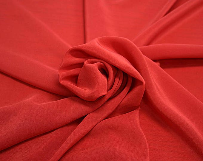 301101-Crepe de Chine, natural silk 100%, wide 135/140 cm, dry wash, weight 88 gr, price 0.25 meters: 11.35 Euros
