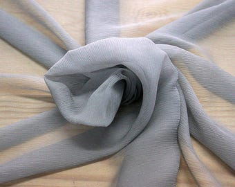326186-Chiffon, natural silk 100%, wide 127/130 cm, made in Italy, dry wash, weight 29 gr, Price 0.25 meters: 7.94 Euros