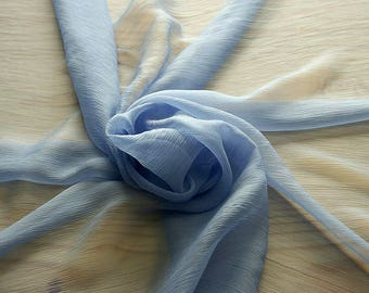 326149-natural Silk Chiffon 100%, wide 127/130 cm, made in Italy, dry cleaning, weight 29 gr, price 1 meter: 31.76 Euros