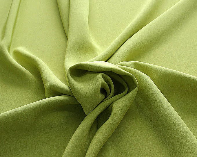 305089-Crepe marocaine, natural silk 100%, wide 130/140 cm, dry washing, weight 215 gr, Price 0.25 meters: 26.09 Euros
