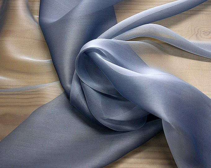 232190-organdy Cangiante Natural Silk 100%, 135 cm wide, made in Italy, dry cleaning, weight 55 gr, price 1 meter: 55.24 Euros