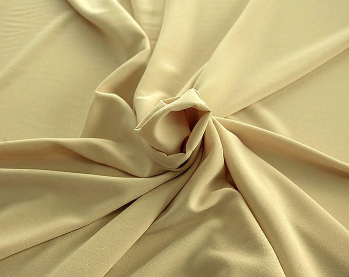 905009-Crepe 100% Polyester, 150 cm wide, made in Italy, dry washing, weight 306 gr, Price 0.25 meters: 8.14 Euros