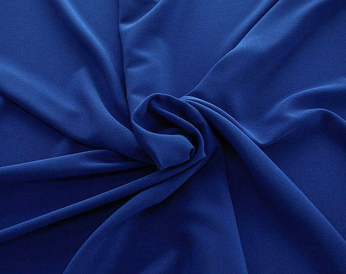 905141-Crepe 100% Polyester, 150 cm wide, made in Italy, dry washing, weight 306 gr, Price 0.25 meters: 8.14 Euros