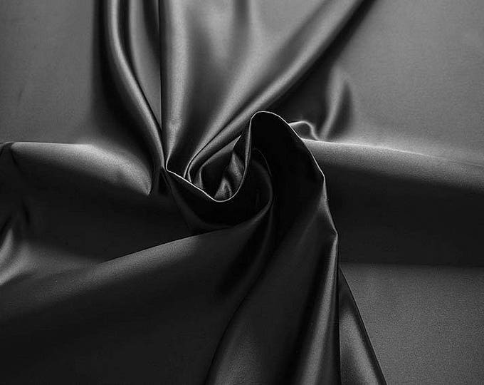 978201-satin, polyester 100%, width 150 cm, made in Italy, dry washing, weight 260 gr, price 0.25 meters: 5.96 Euros