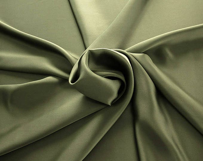 1712-099-Natural silk Crepe Satin 100%, 135/140 cm Wide, Made in Italy, dry-Washed, Weight 100 gr