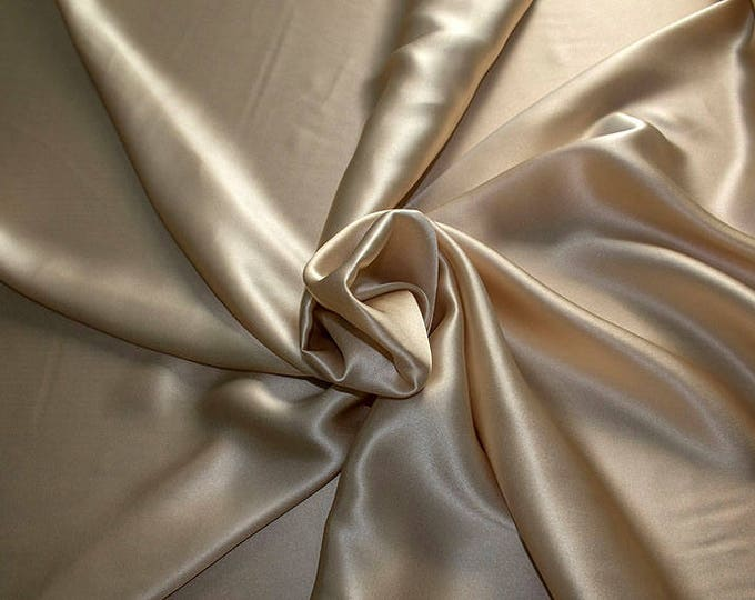 1712-007-Natural silk Crepe Satin 100%, 135/140 cm Wide, Made in Italy, dry-Washed, Weight 100 gr