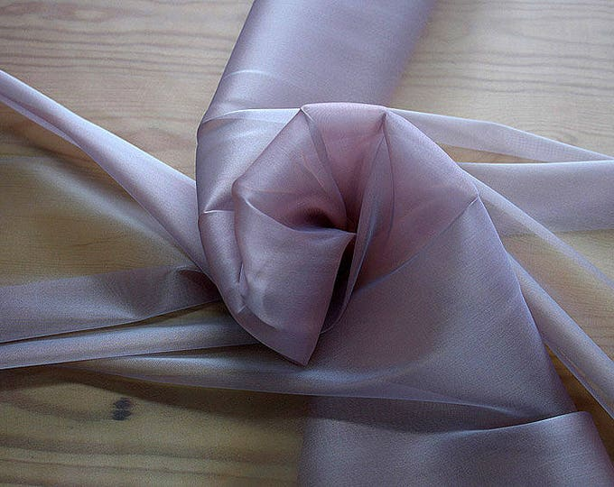 232126-organdy Cangiante Natural Silk 100%, 135 cm wide, made in Italy, dry cleaning, weight 55 gr, price 1 meter: 55.24 Euros
