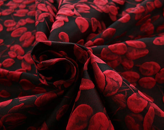 990101-102 JACQUARD-Co 63%, Se 31, Pc 6, 140 cm wide, manufactured in Italy, dry cleaning, weight 238 gr, price 1 meter: 95.17 Euros