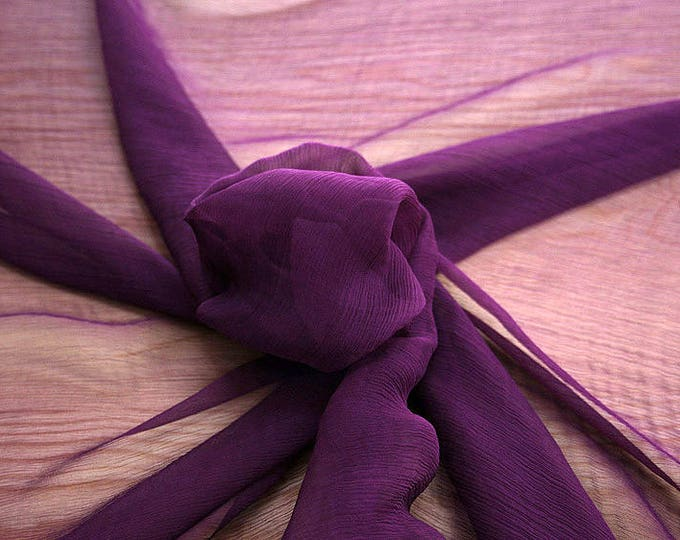326220-natural Silk Chiffon 100%, wide 127/130 cm, made in Italy, dry cleaning, weight 29 gr, price 1 meter: 31.76 Euros