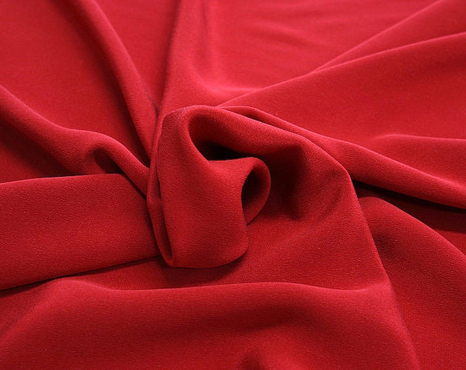 305102-Crepe marocaine Natural Silk 100%, wide 130/140 cm, made in Italy, dry cleaning, weight 215 gr, price 1 meter: 104.36 Euros