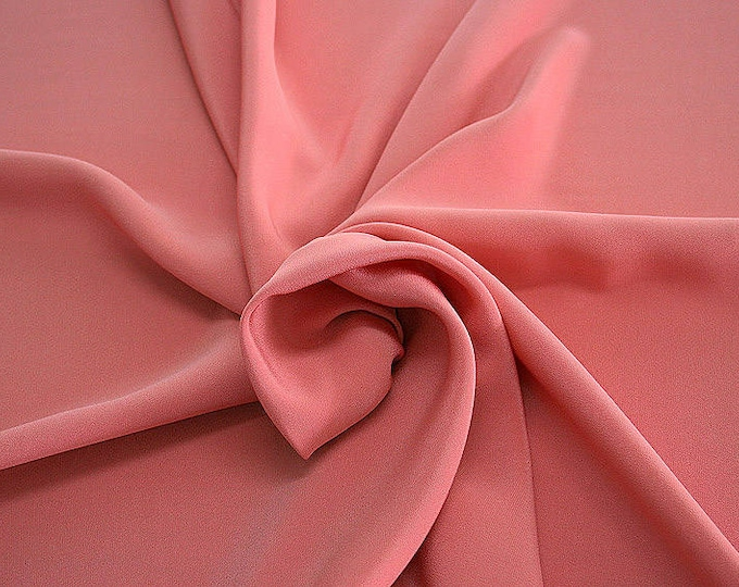 305112-Crepe marocaine Natural Silk 100%, wide 130/140 cm, made in Italy, dry cleaning, weight 215 gr, price 1 meter: 104.36 Euros