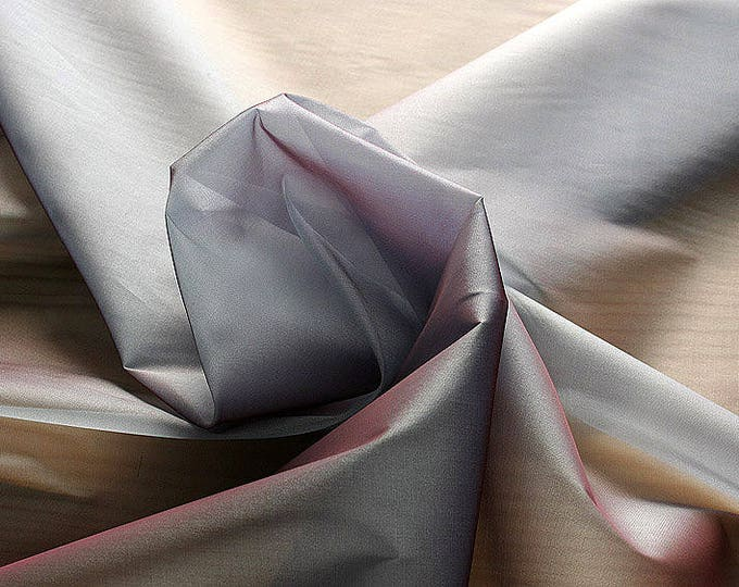 232146-organdy Cangiante Natural Silk 100%, 135 cm wide, made in Italy, dry cleaning, weight 55 gr, price 1 meter: 55.24 Euros