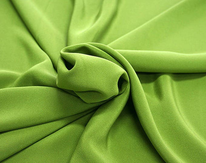 305088-Crepe marocaine Natural Silk 100%, wide 130/140 cm, made in Italy, dry cleaning, weight 215 gr, price 1 meter: 104.36 Euros