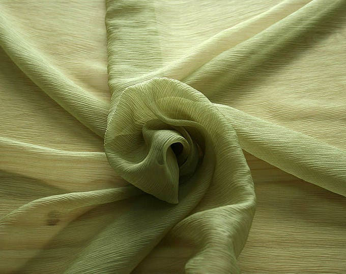 326090-natural Silk Chiffon 100%, wide 127/130 cm, made in Italy, dry cleaning, weight 29 gr, price 1 meter: 31.76 Euros