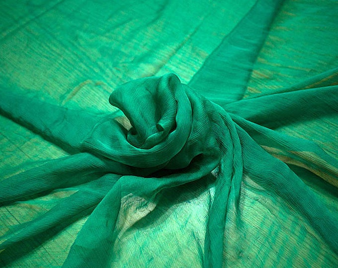 326079-natural Silk Chiffon 100%, wide 127/130 cm, made in Italy, dry cleaning, weight 29 gr, price 1 meter: 31.76 Euros