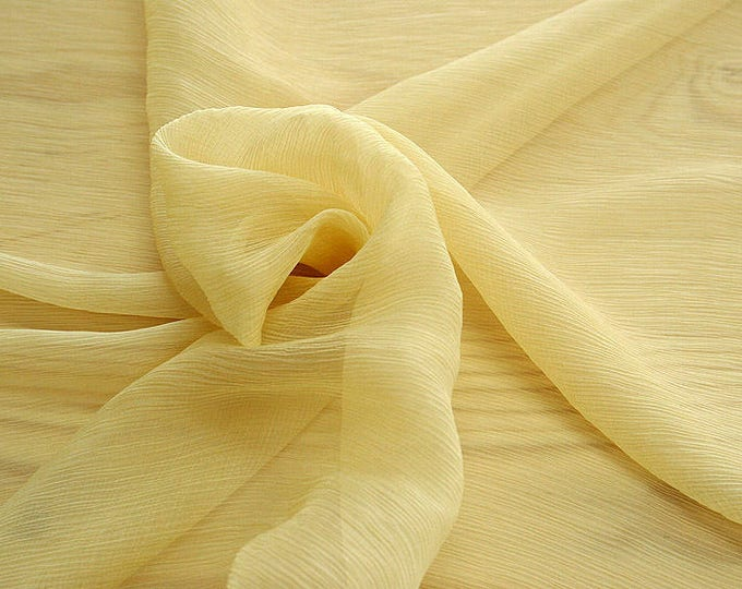 326070-natural Silk Chiffon 100%, wide 127/130 cm, made in Italy, dry cleaning, weight 29 gr, price 1 meter: 31.76 Euros