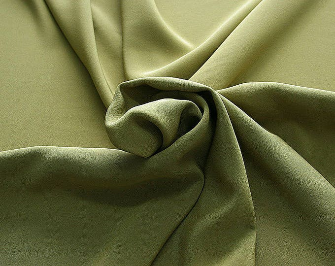 305090-Crepe marocaine Natural Silk 100%, wide 130/140 cm, made in Italy, dry cleaning, weight 215 gr, price 1 meter: 104.36 Euros