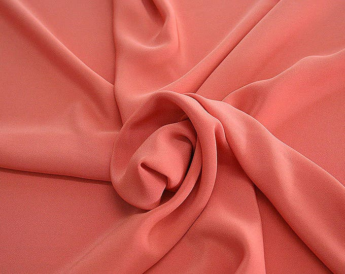 305105-Crepe marocaine Natural Silk 100%, wide 130/140 cm, made in Italy, dry cleaning, weight 215 gr, price 1 meter: 104.36 Euros