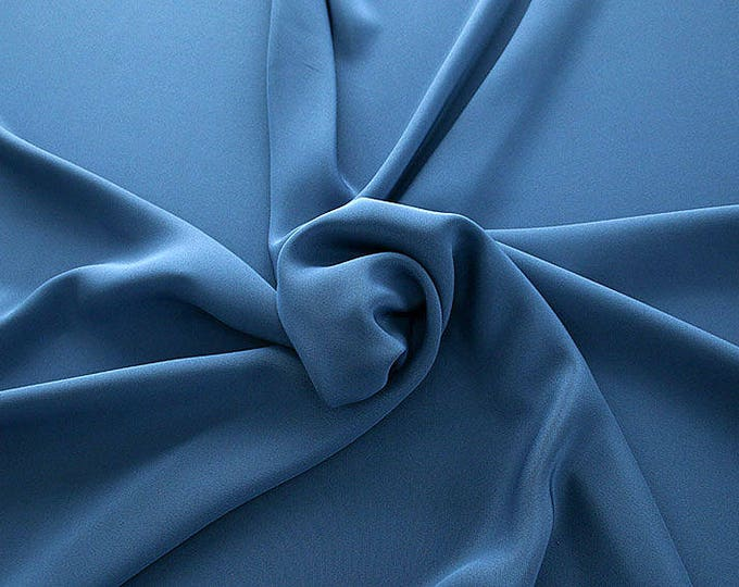 305155-Crepe marocaine Natural Silk 100%, wide 130/140 cm, made in Italy, dry cleaning, weight 215 gr, price 1 meter: 104.36 Euros