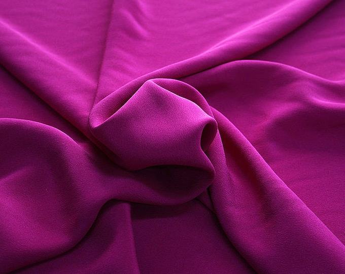 305139-Crepe marocaine Natural Silk 100%, wide 130/140 cm, made in Italy, dry cleaning, weight 215 gr, price 1 meter: 104.36 Euros