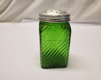 Antique green shaker no label