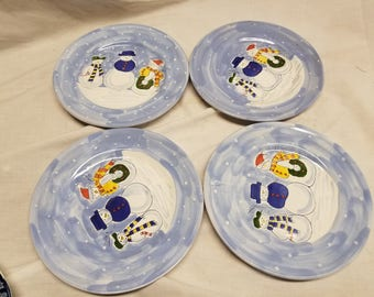 Mesa international plates Snowmen